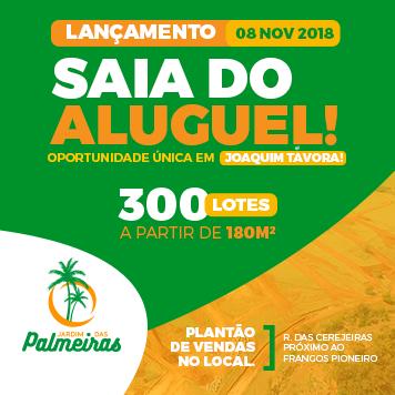 Loteamento em Joaquim Távora - Jardim das Palmeiras