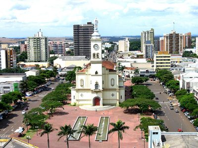 Praça Rui Barbosa em Apucarana