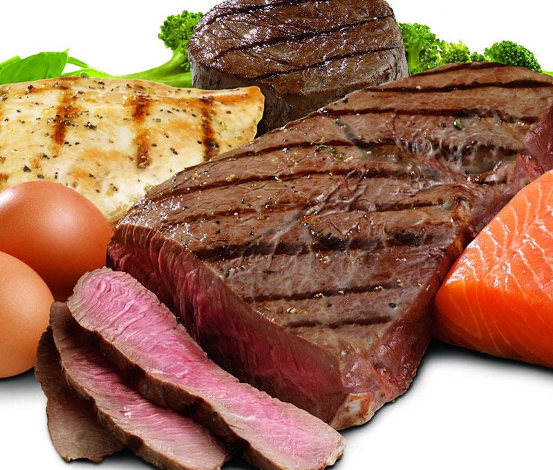 Carnes são ricas em proteínas
