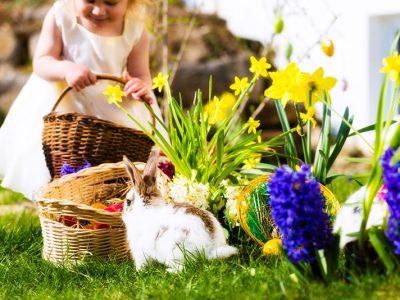 Brincadeira com os filhos na Páscoa