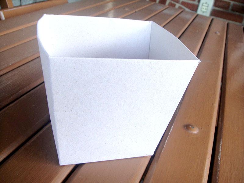 Cachepot feito com caixa de panetone