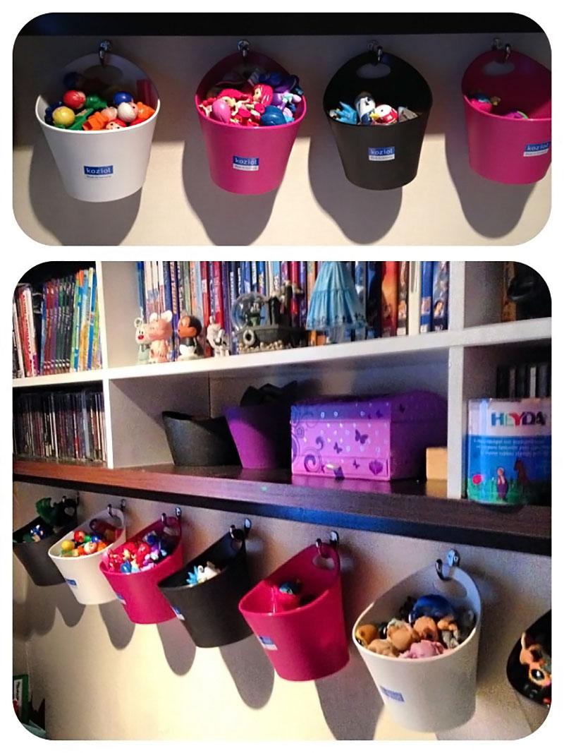 Balde para organizar os brinquedos
