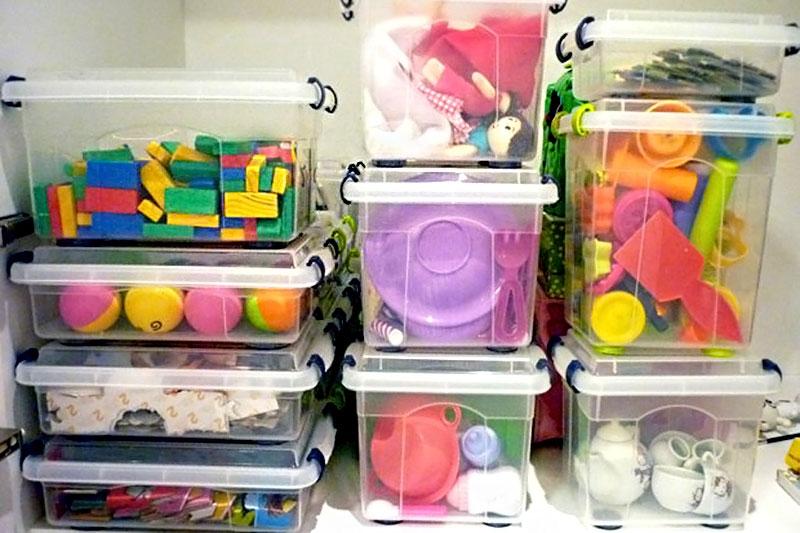 Caixas organizadoras para o quarto das crianças