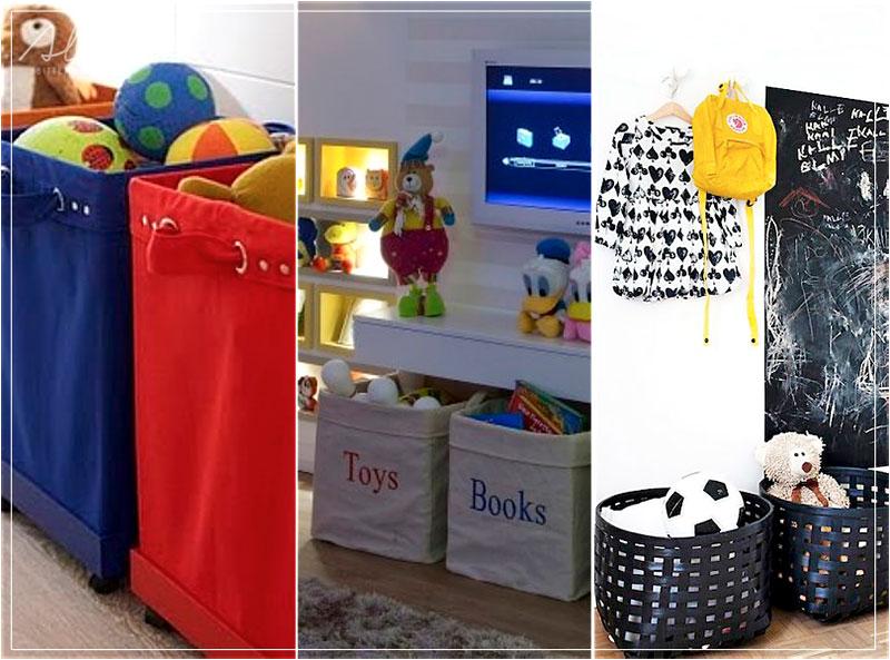 Estilos de cestos para quarto das crianças