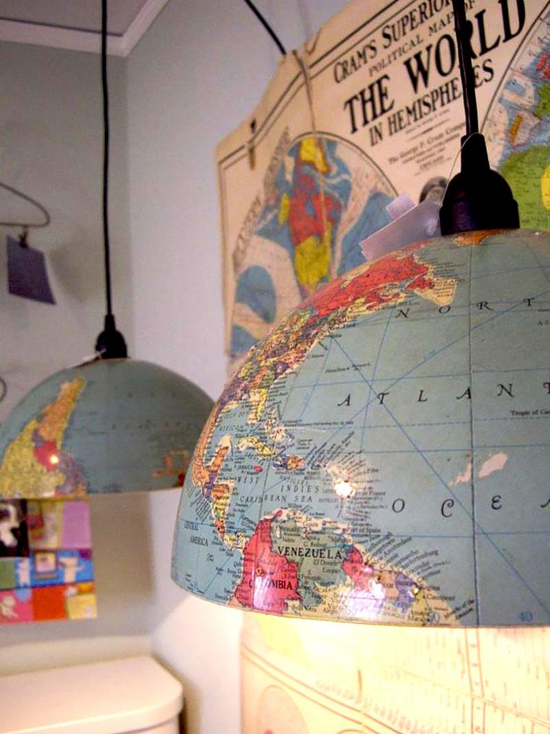 Luminária meio globo