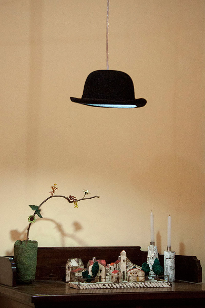 Luminária - Pendente chapéu coco