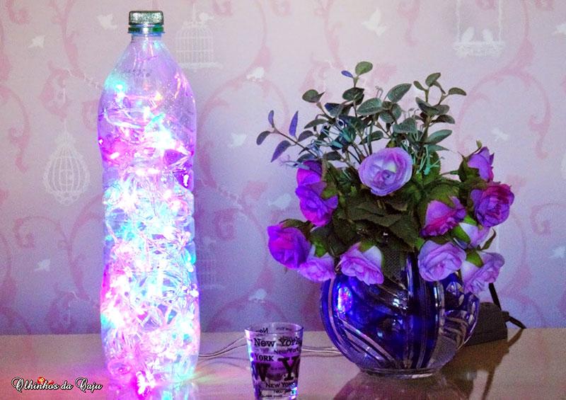 Luminaria com garrafa Pet