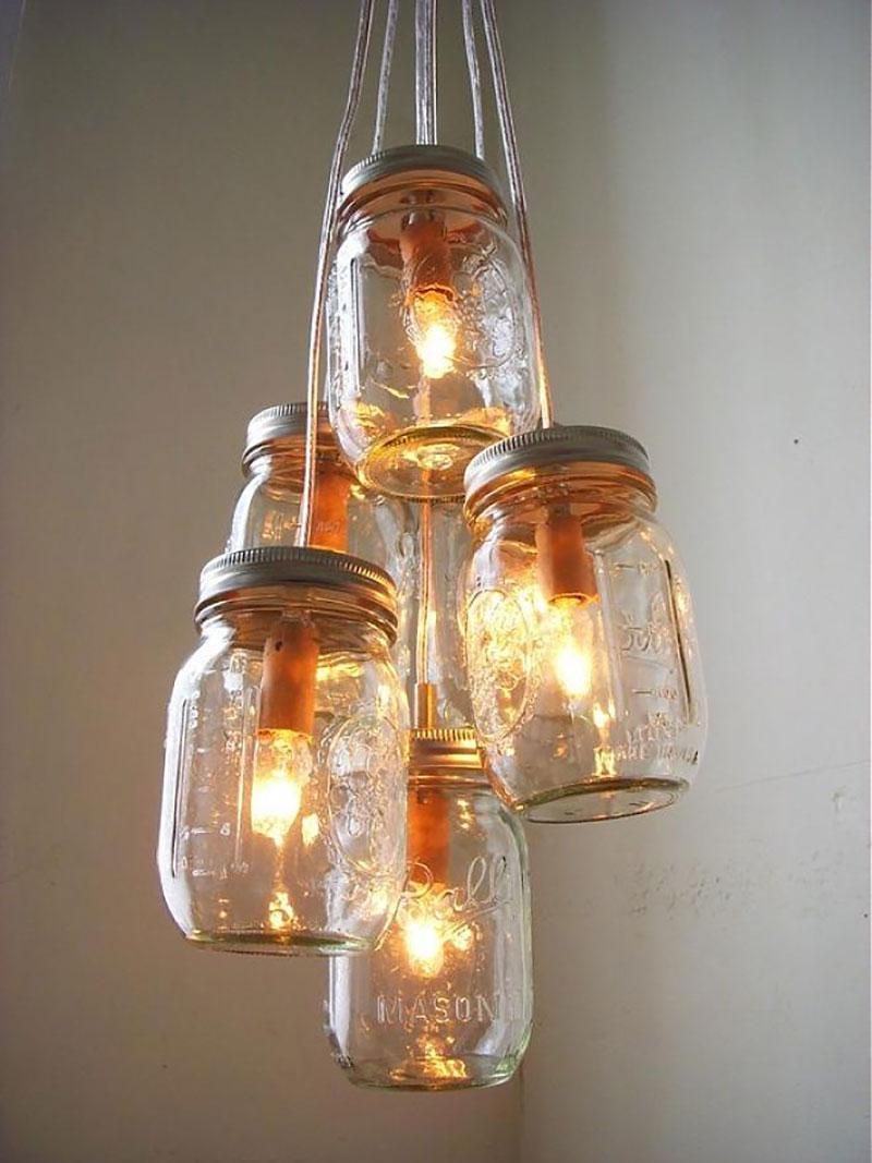 Luminárias - Pendente feito com pote de conversa