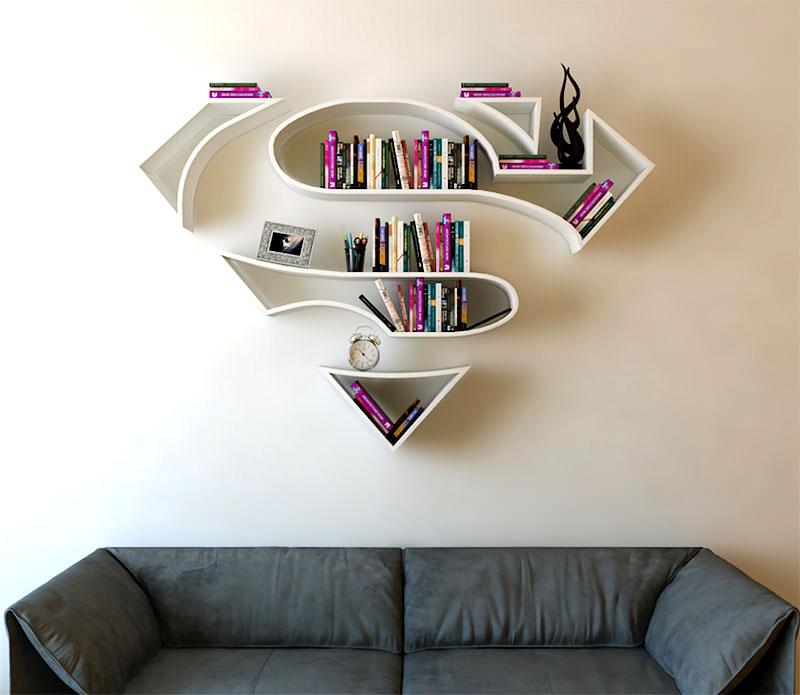 Prateleira - símbolo do Super Homem