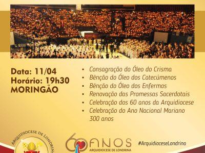 Missa dos Santos Óleos em Londrina - PR