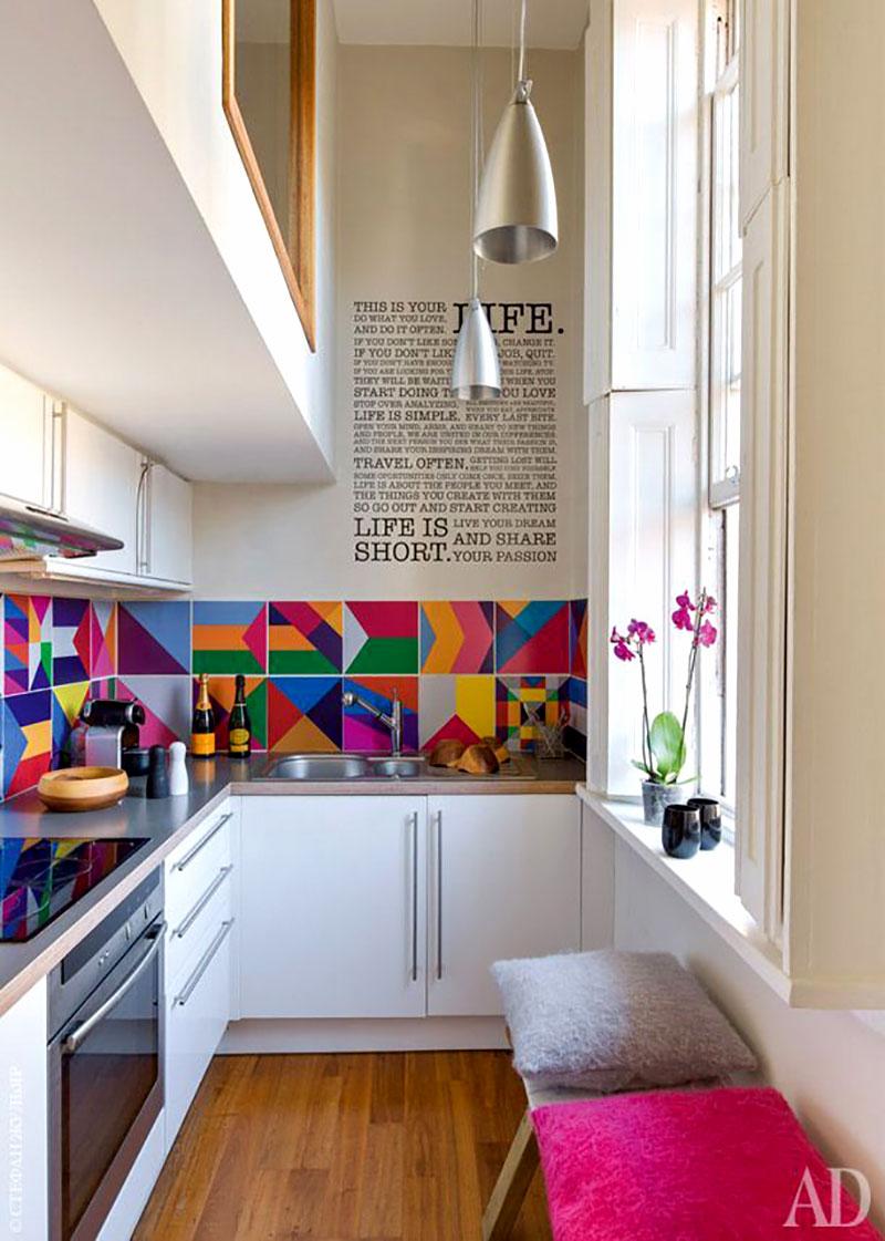 Cozinha decorada com Papel Contact