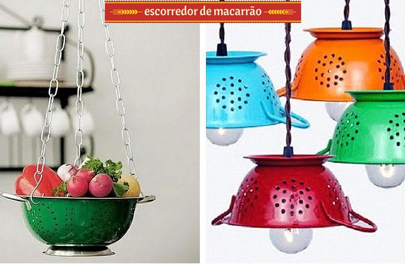 Escorredor de macarrão para decoração na cozinha