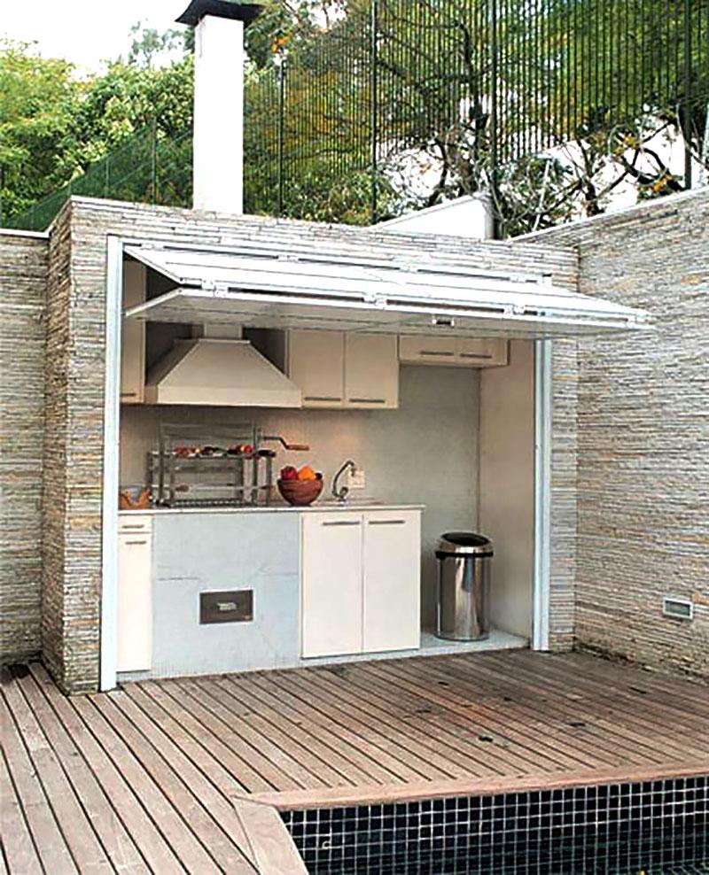 Espaço gourmet para quintal pequeno
