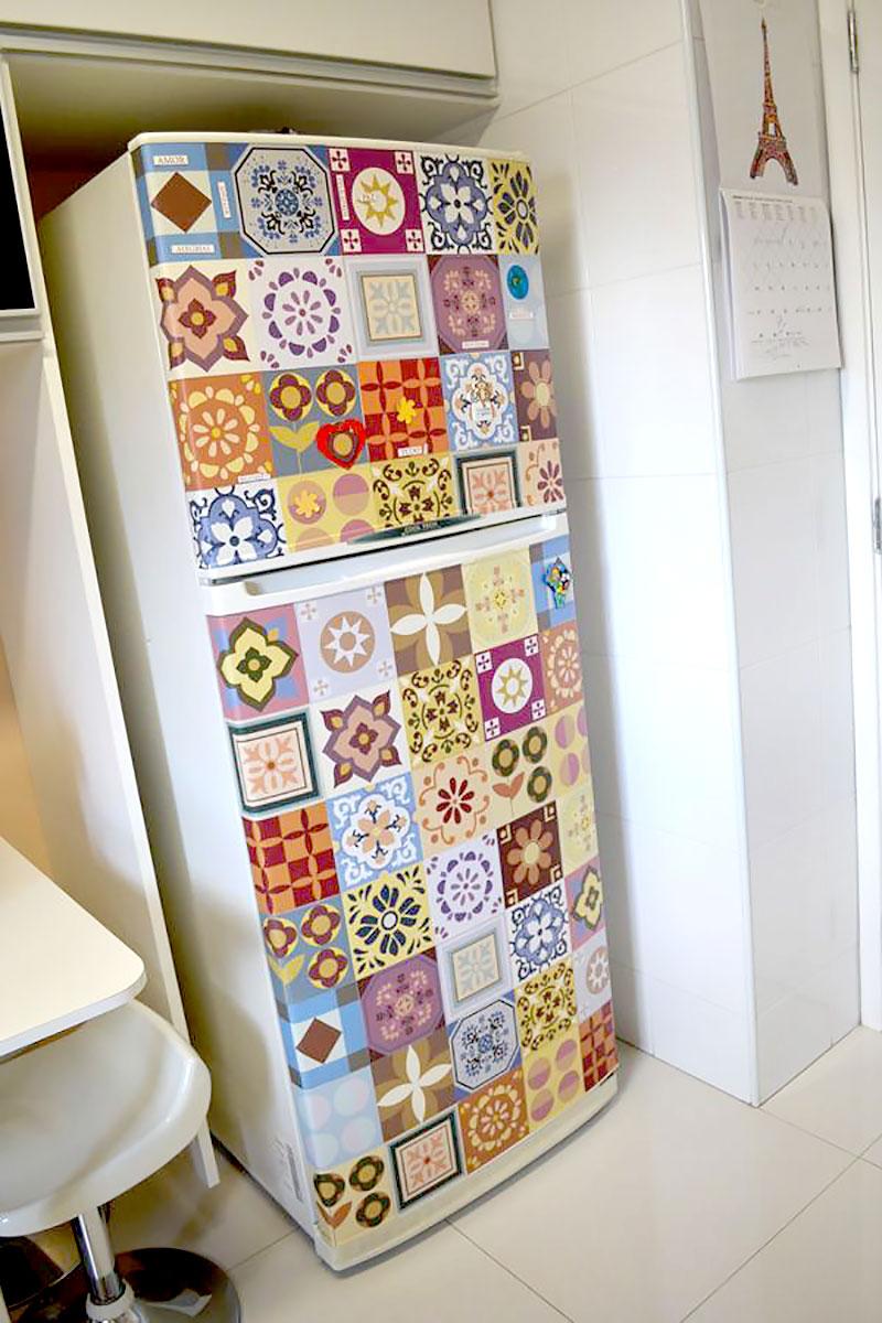 Geladeira - Azulejos coloridos vintage