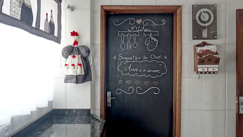 Mural de recados para cozinha