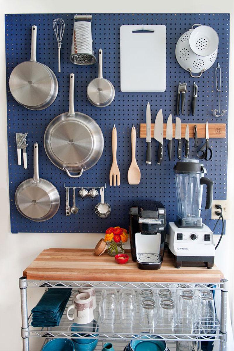 Painel funcional para parede da cozinha