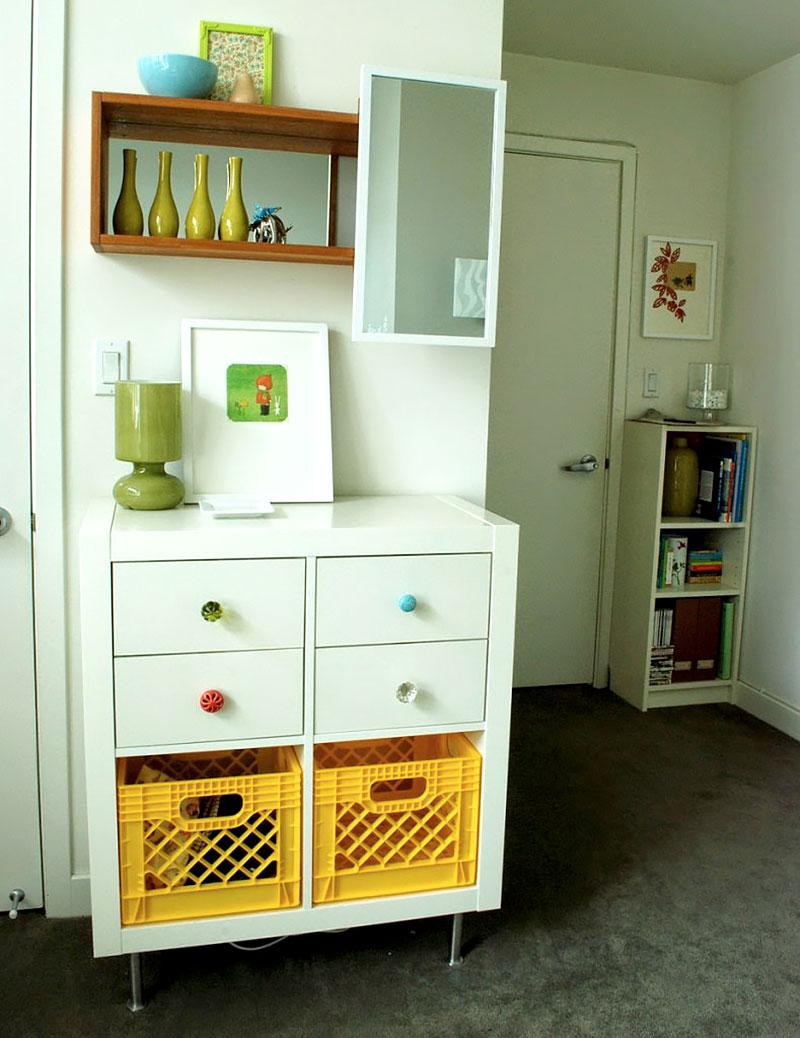 Puxadores coloridos para gavetas