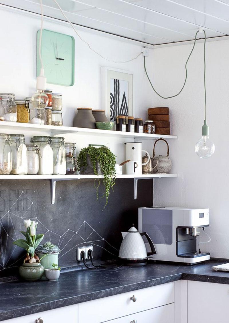 Parede da cozinha com Tinta Lousa