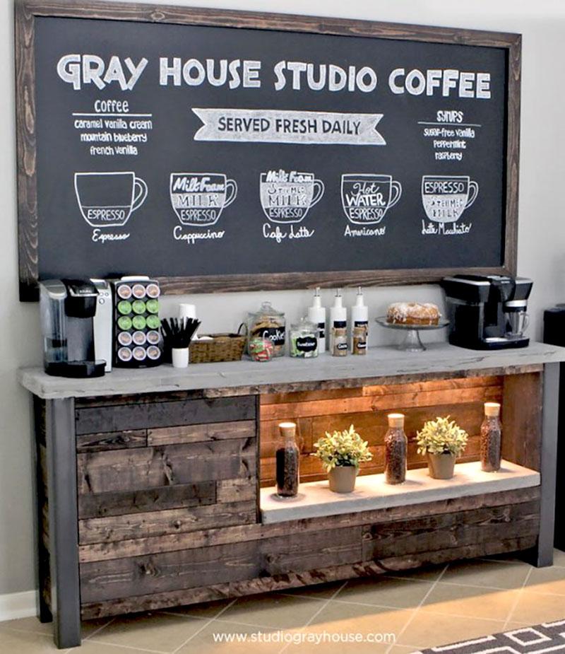 Bancada para o cantinho do café