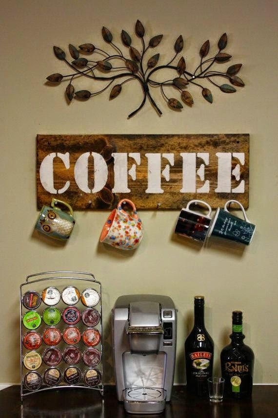 Cantinho do café, rústico e moderno