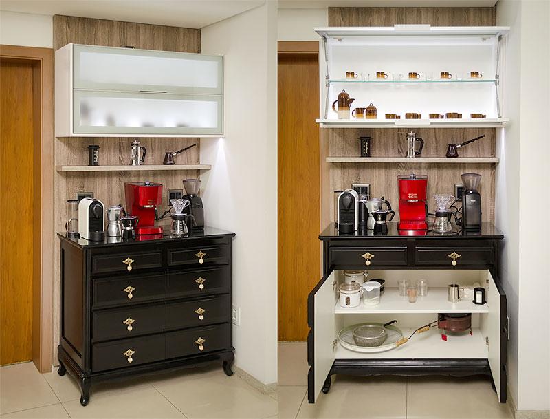 Cômoda, armário para o cantinho do café