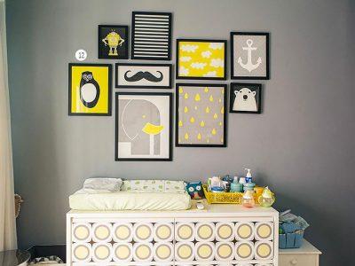 Composição de quadros para decoração