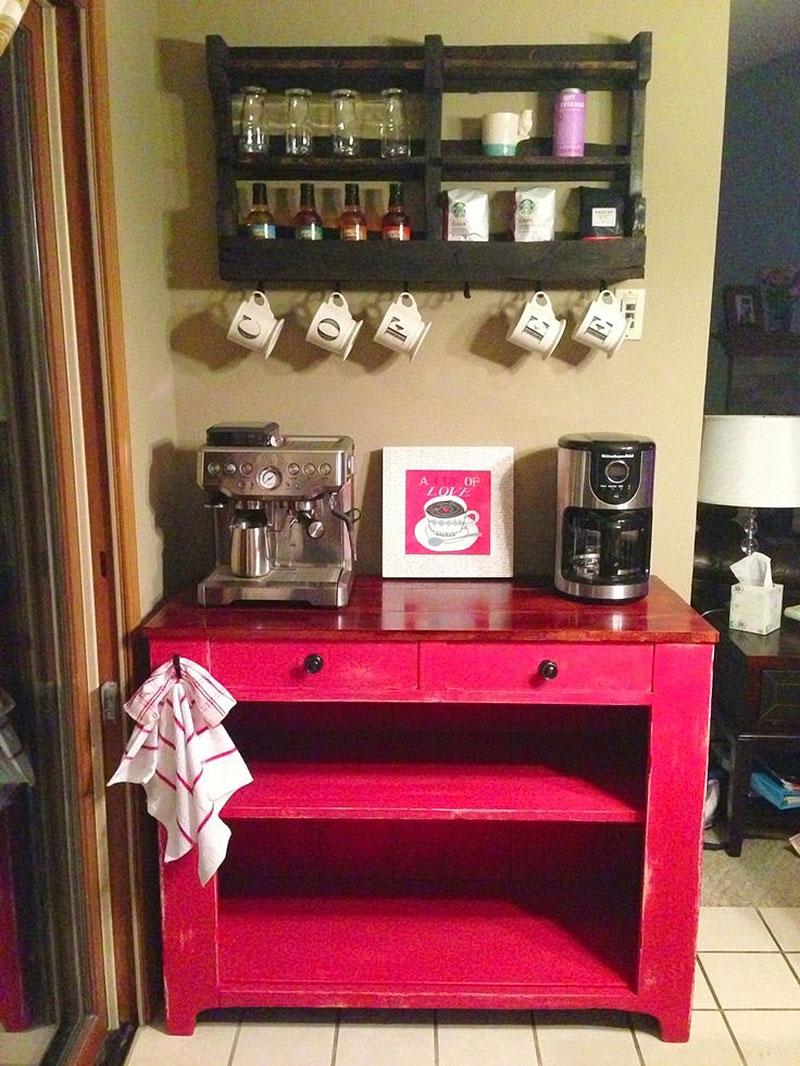 Móveis funcionais decorativos, cantinho do café