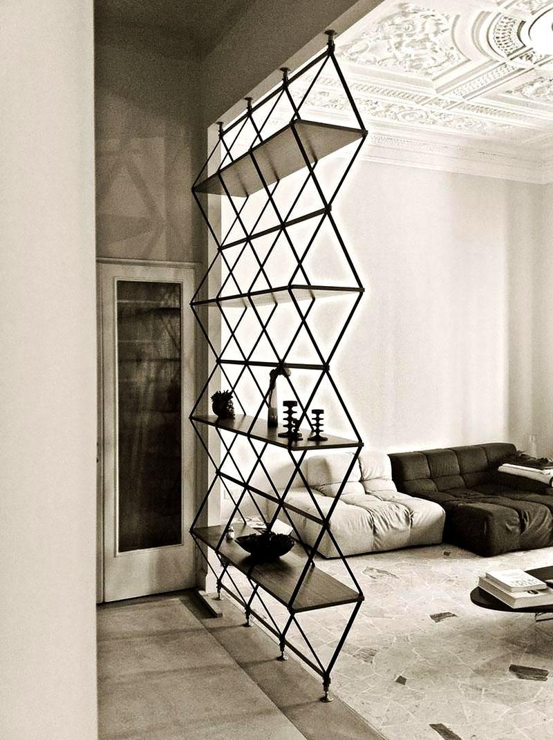 Divisória de ambiente: Formas geométricas