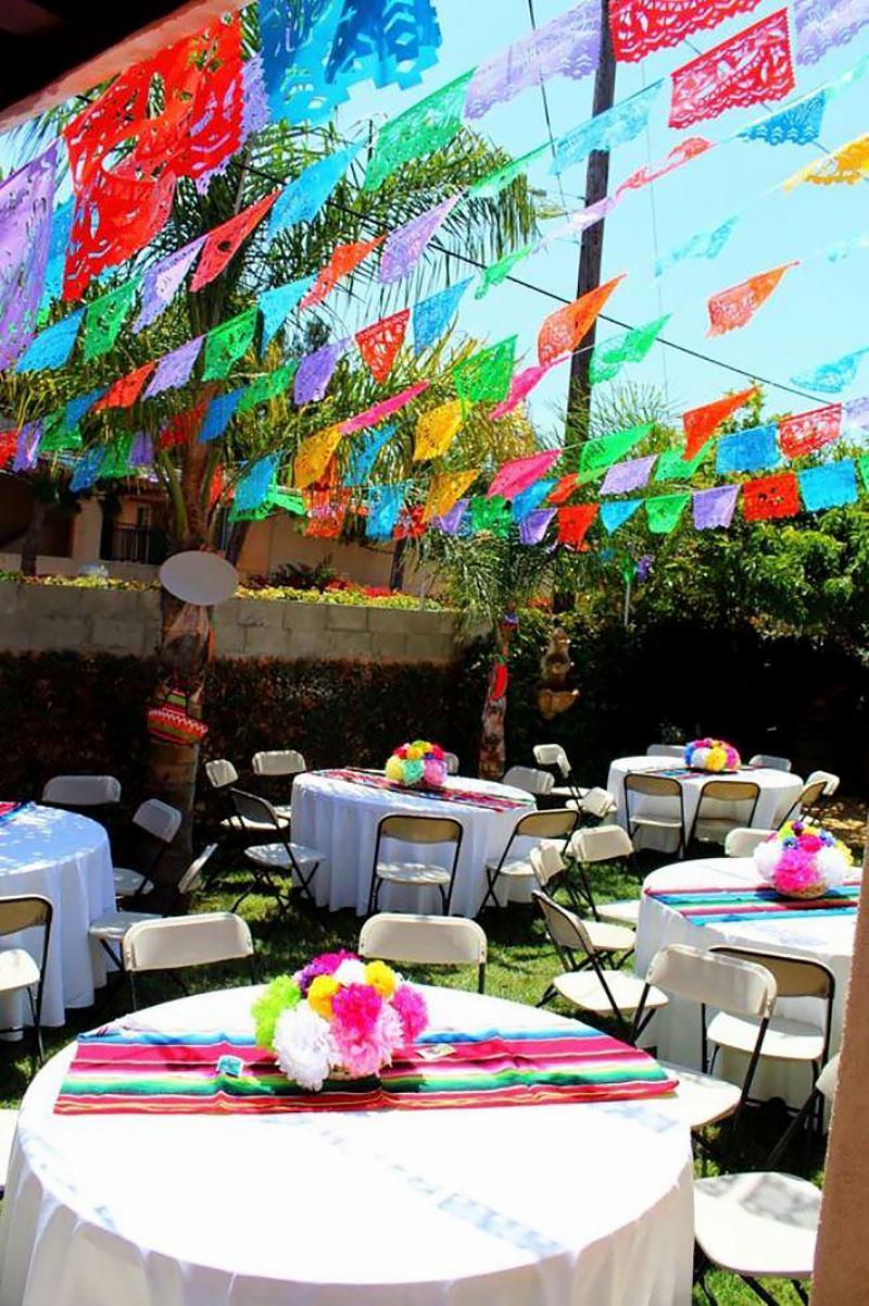Noite Mexicana: Bandeirinhas para decoração
