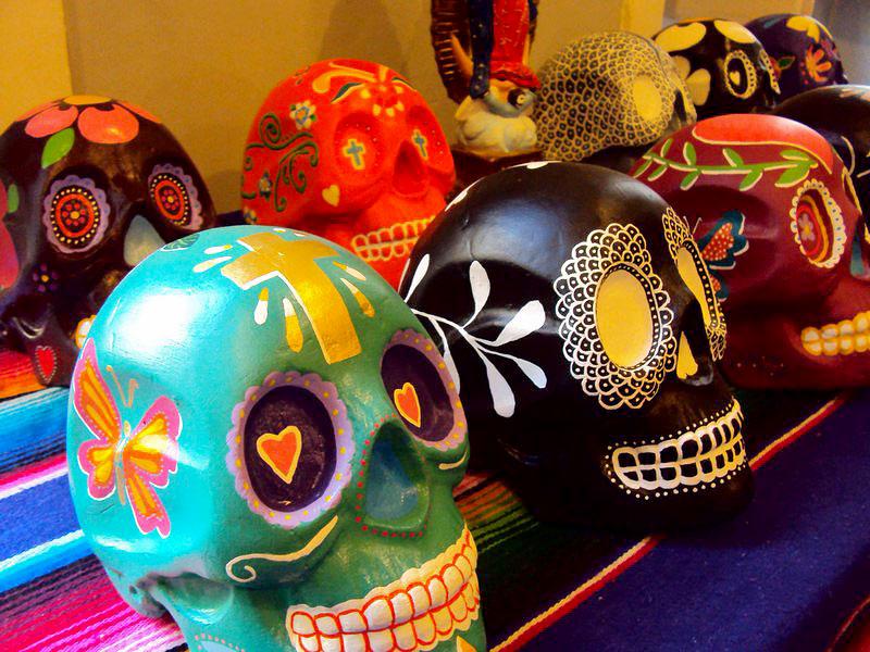 Noite Mexicana: Caveiras para decoração