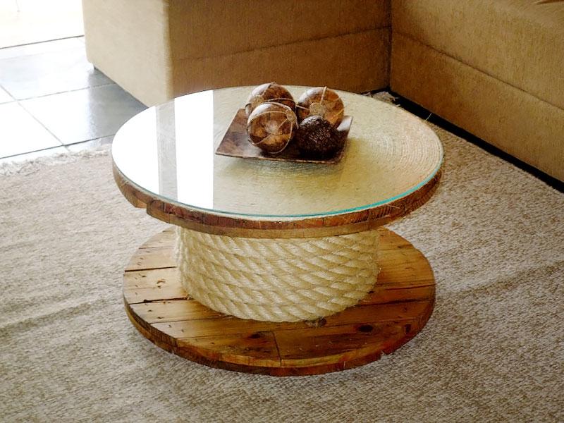 DIY: Mesa de centro com Vidro e Sisal
