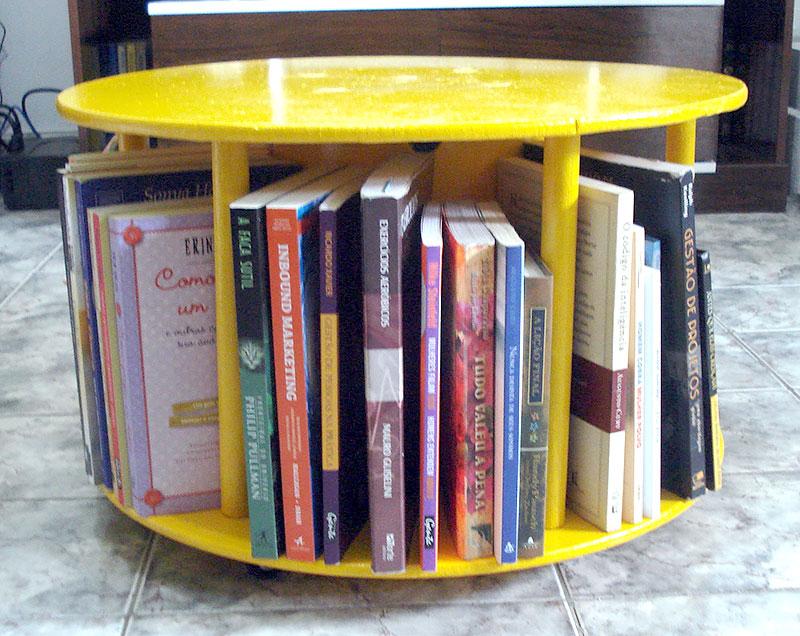 DIY: Mesa de centro feito com Carretel de Madeira
