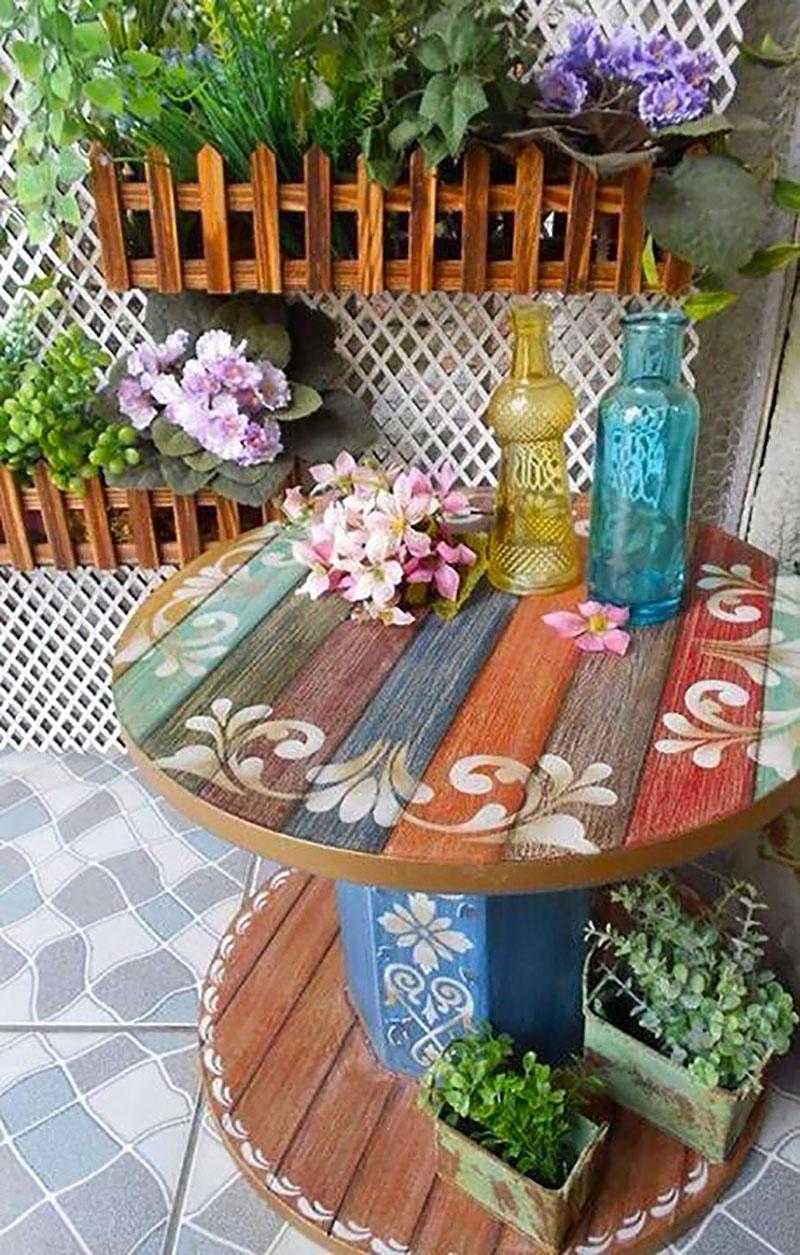 DIY: Mesa personalizada feita com Carretel de madeira