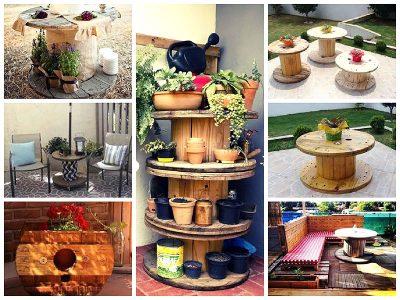 DIY: Móveis feito com Carretel de Madeira