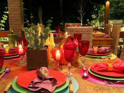 Noite Mexicana: cores tradicionais do México