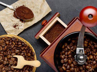 Processo de moagem do café