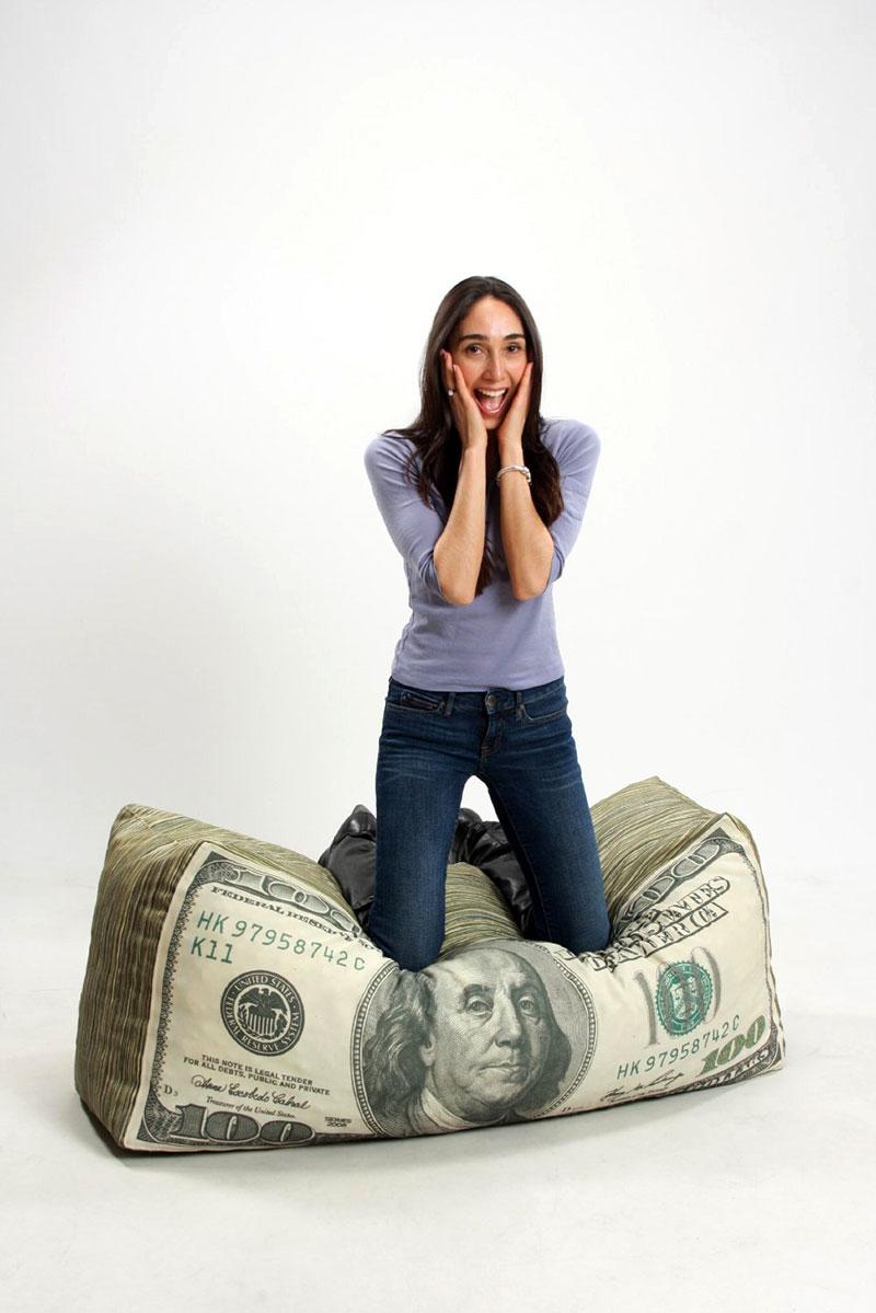 Puff Dinheiro - Decoração criativa