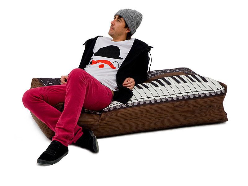 Puff de Instrumento Musical - Teclado