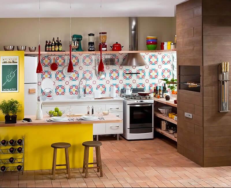 Azulejos decorados para cozinha americana