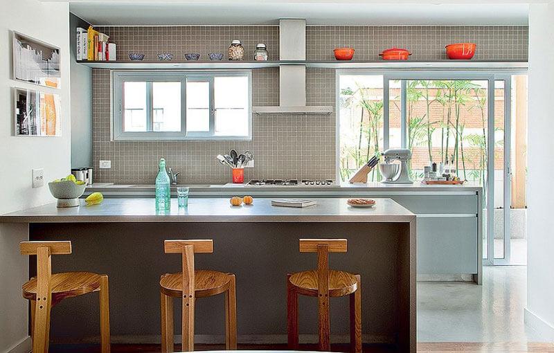 Cozinha Americana - Janelas e Portas