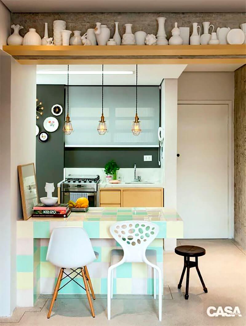 8 Dicas Para Montar E Decorar A Cozinha Americana Hf Urbanismo ~ Cozinha Americana Em Madeira
