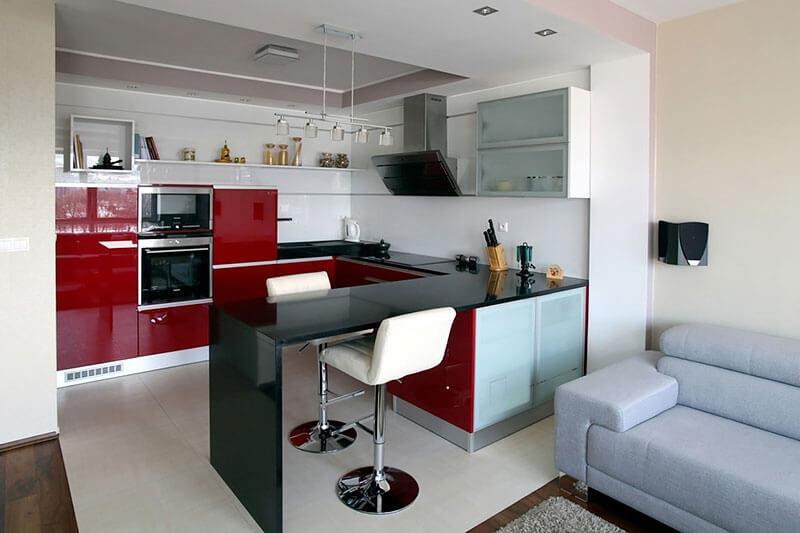 Móveis de cores claras para cozinha