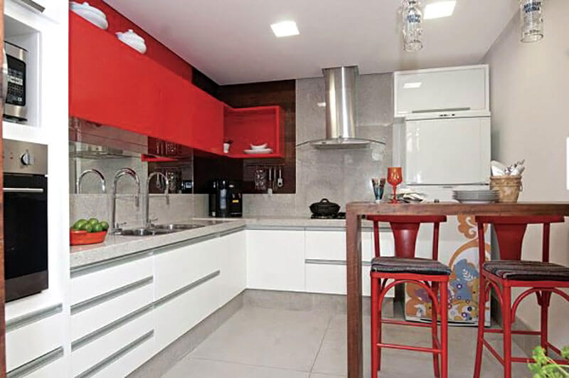 Combinação de cores para cozinha