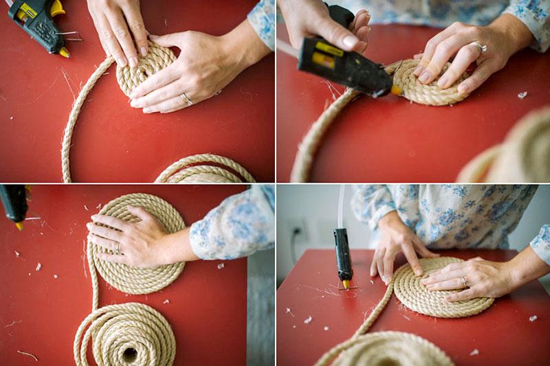 Artesanato Portuguesa ~ DIY Aprenda como decorar objetos com corda de sisal HF