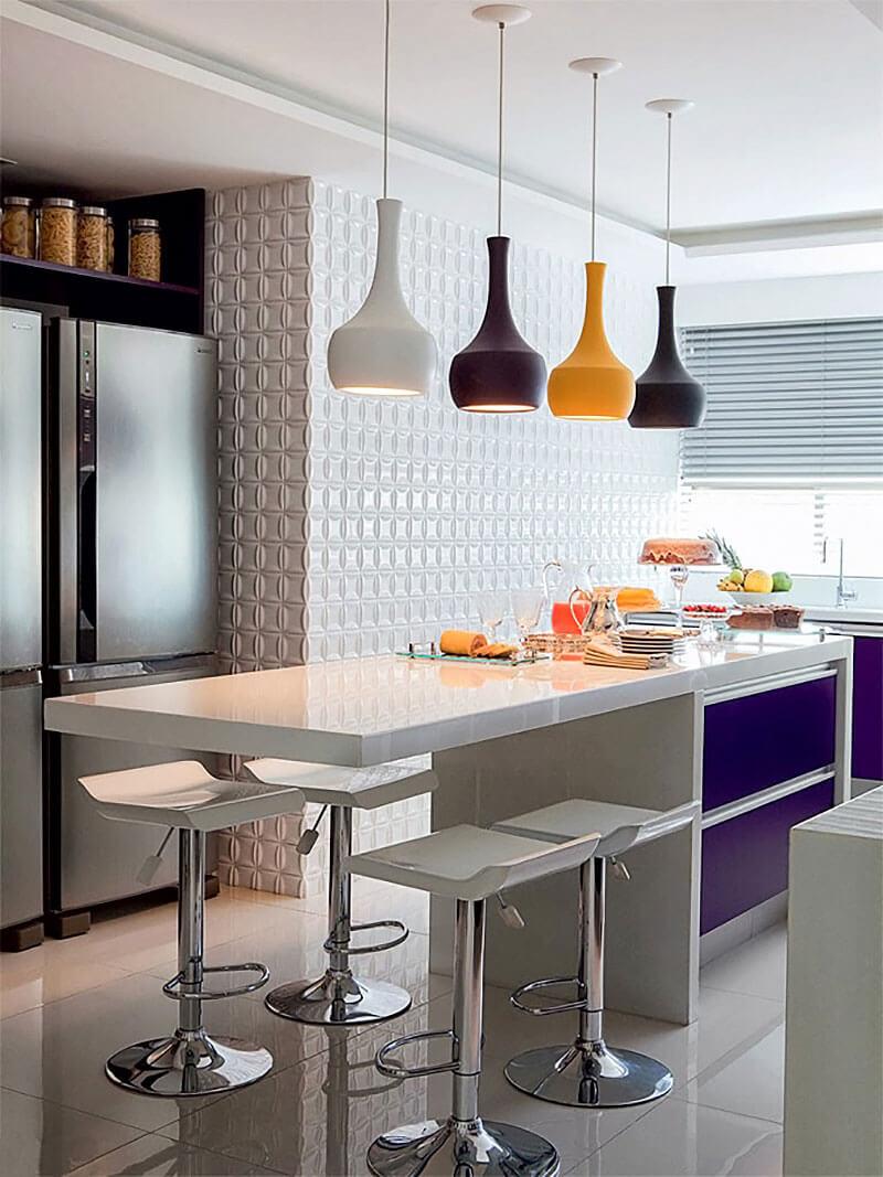 8 Dicas Para Montar E Decorar A Cozinha Americana Hf Urbanismo ~ Bancada Divisoria Sala Cozinha