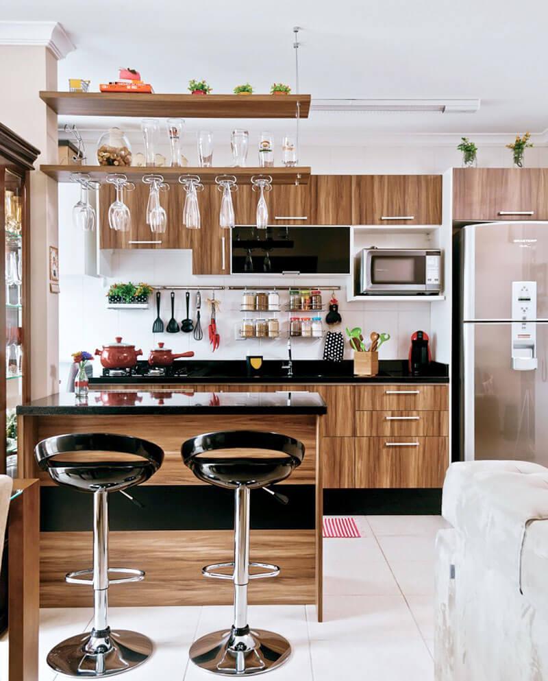 8 Dicas Para Montar E Decorar A Cozinha Americana Hf Urbanismo ~ Divisoria Para Cozinha E Sala
