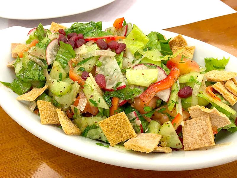 Fatouche salada árabe