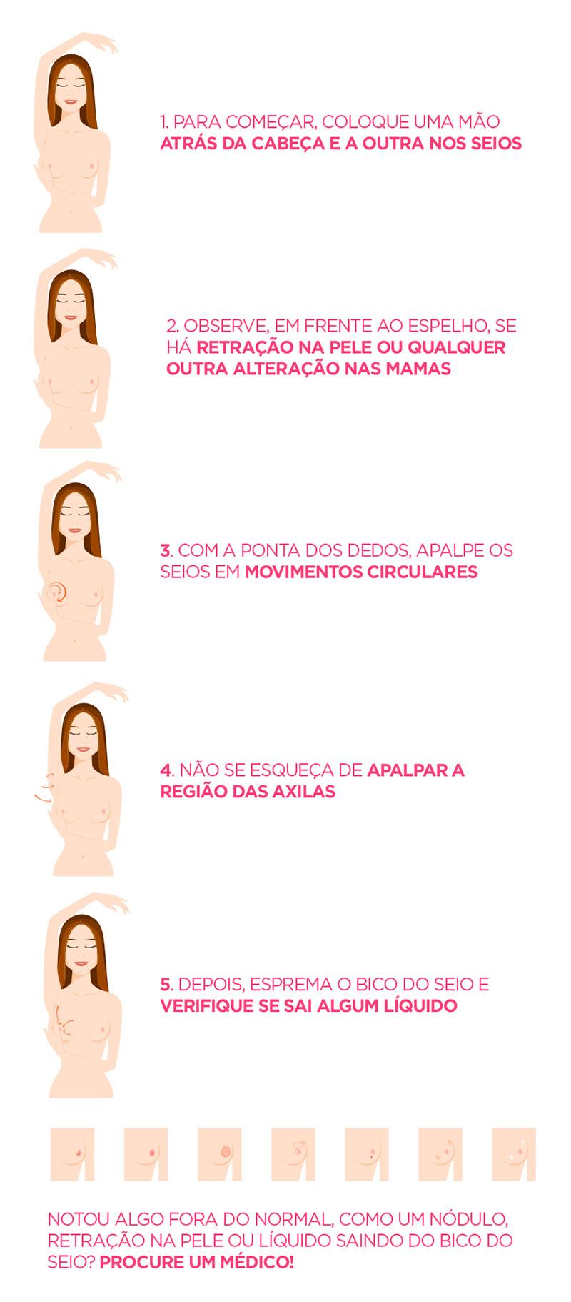Como faer o Autoexame - Câncer de Mama