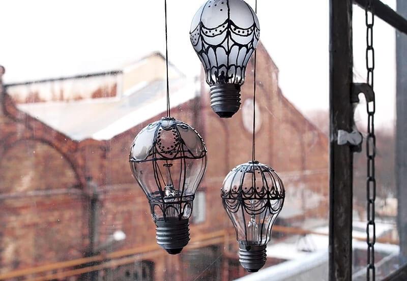Luminária lâmpada criativa
