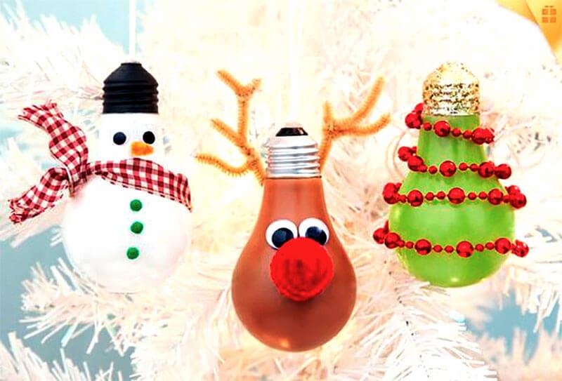 Lâmpadas personalizadas de Natal